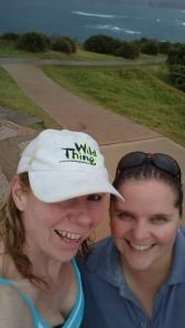 My training partner Cate and I in the rain making it count.